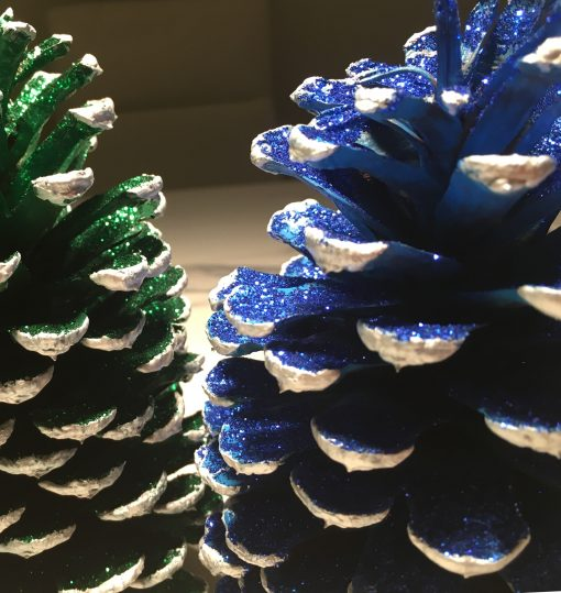 Christmas Decoration green silver blue silver