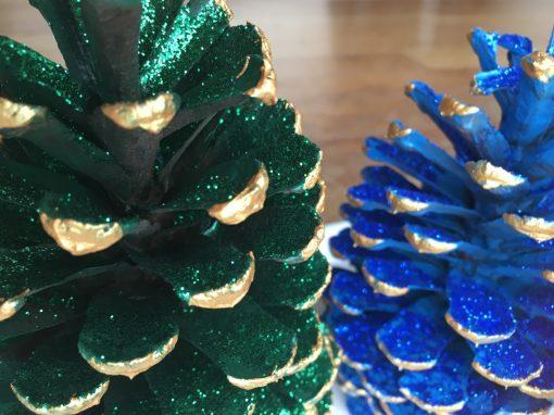 Green Blue Xmas Decorations
