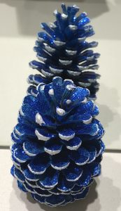 Christmas Decoration Blue and Silver Pine